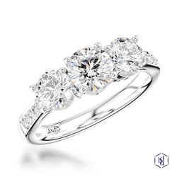 Memoire Three Stone - Diamond by Appointment